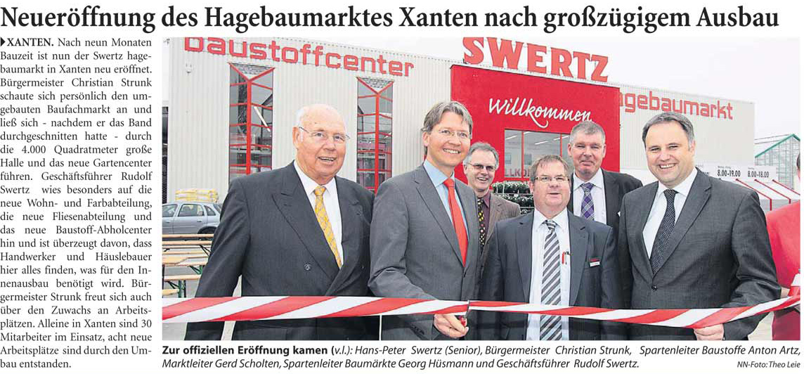 19. März 2011: Neueröffnung Swertz in Xanten