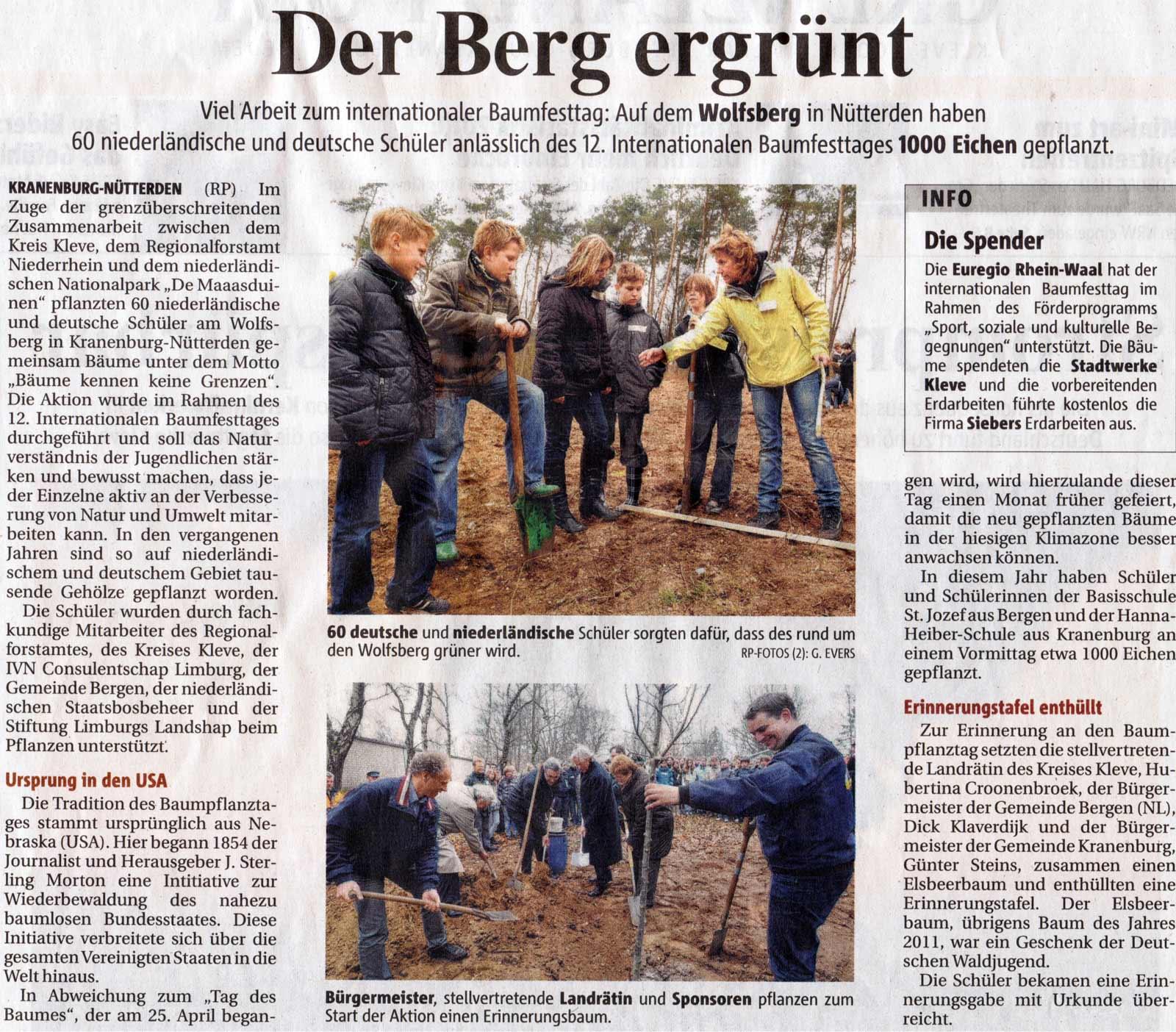 18. März 2011: Internationaler Baumfesttag in Kranenburg