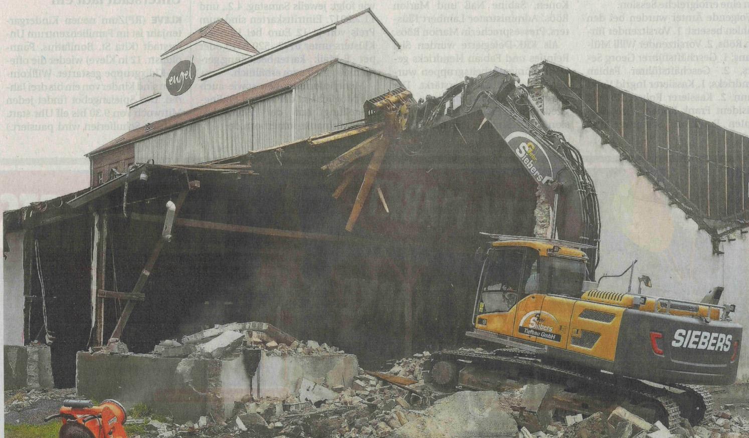 Nähr-Engel-Halle wird abgerissen