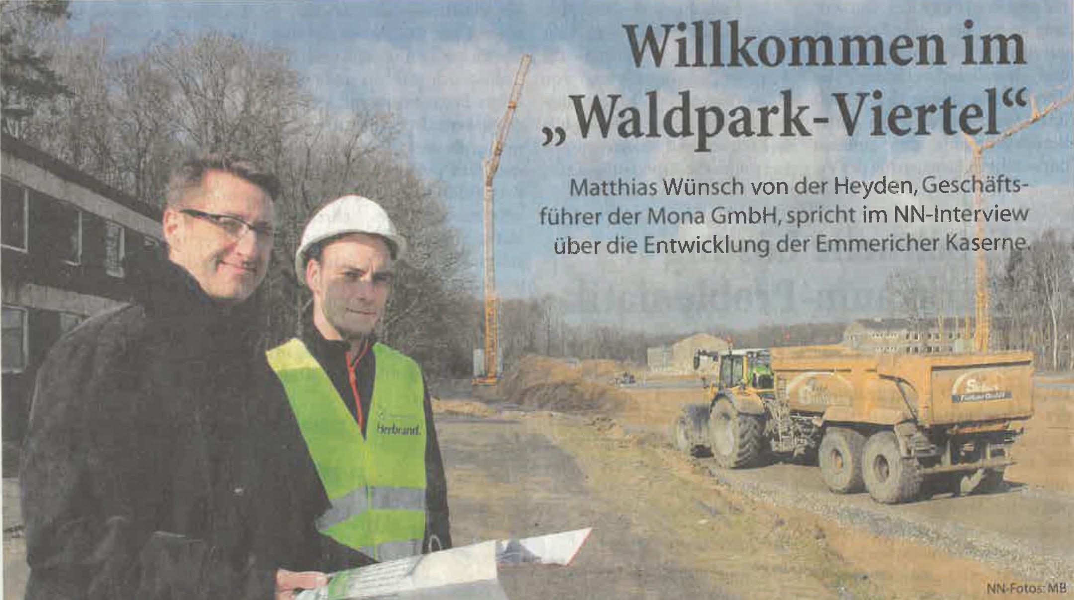 """Willkommen im """"Waldpark-Viertel""""   NN Bericht 17.03.2018"""