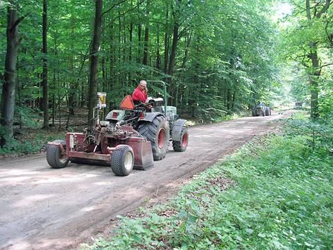 Erneuerung von Waldwegen