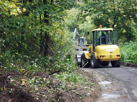 Sanierung Waldwege im Reichswald