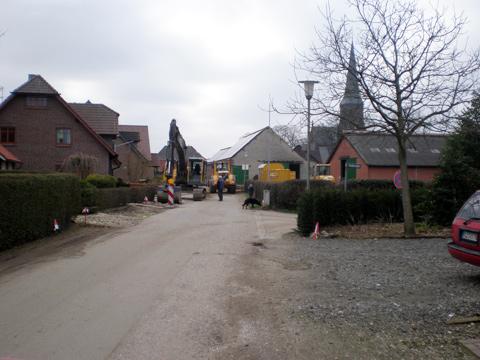 Straßenausbau Ruehlscherweg in Weeze/Wemb