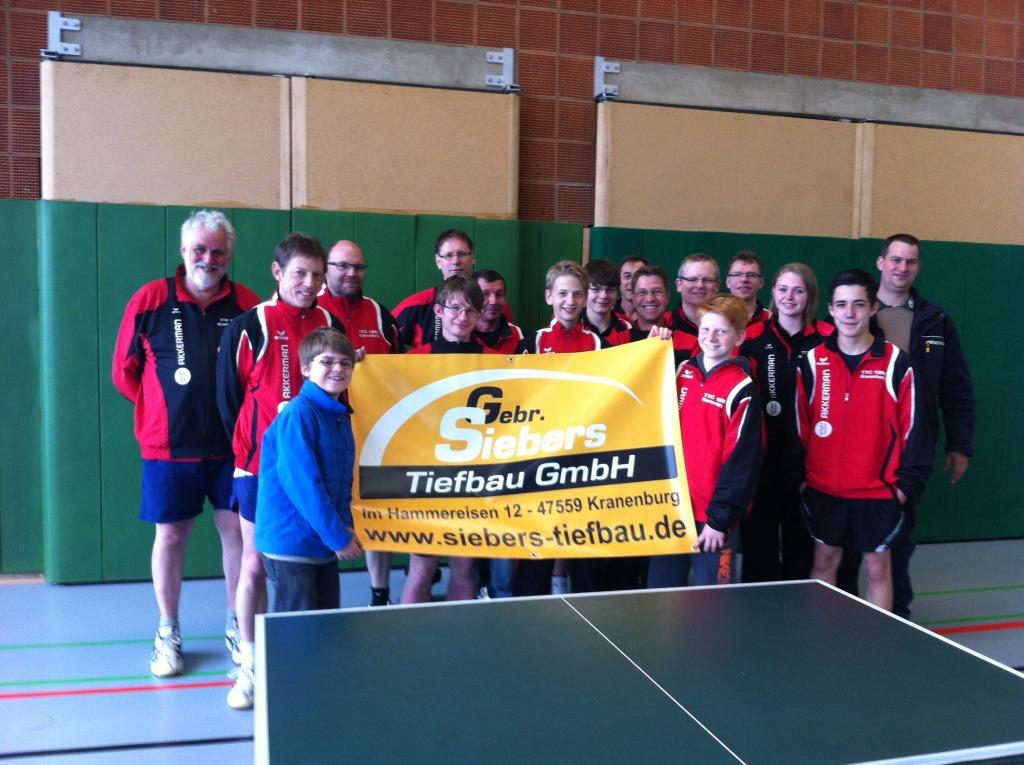 Trikotsatz für Tischtennisverein Kranenburg