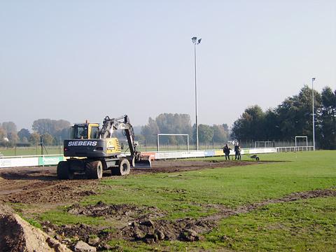Wiederherstellung Fußballplatz in Schottheide