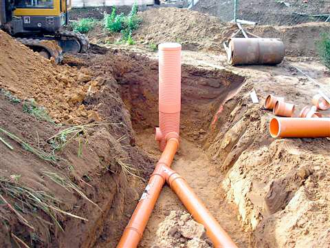 Regenwasseranschluss in Straelen